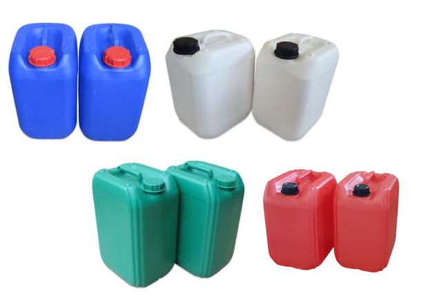 2 x 22 L Kanister gelb Kanister Kunststoffkanister gebraucht Tank Auslaufhahn