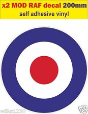 200mm RAF Roundel 2 The Who Mod Target Scooter Decals stickers Vespa van vw