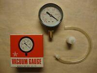Migishita Seiki Vacuum Gauge, Type At, Dia 60mm, -0.1 Mpa / 76 Cm/hg -