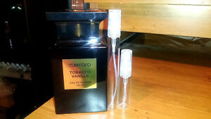 9443d38b86ebb Tom Ford Tobacco Vanille 5 or 10ML Sample in Glass Spray Atomizer