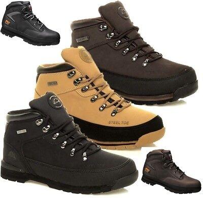 Ehrlich Mens Groundwork Leather Lightweight Steel Toe Cap Safety Work Trainers Boots Sz Angemessener Preis