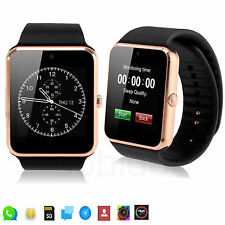 Gold Bluetooth Smart Watch Phone For Android Cellphone Samsung Note 5 4 Alcatel