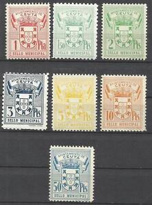 5645-ANTIGUOS-SELLOS-FISCALES-AYUNTAMIENTO-CEUTA-ESPANA-NORTE-AFRICA-MNH-SPAIN