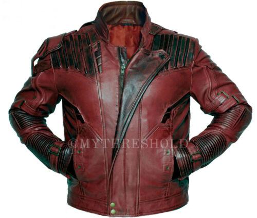 Guardians of the Galaxy 2 Star Lord Chris Pratt Maroon Leather Jacket