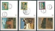 1976 ITALIA FDC FILAGRANO GOLD TURISTICA NO TIMBRO ARRIVO - KI8