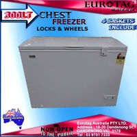 Eurotag 300lt Chest Freezer 4 Baskets Brand 1 Years Warranty
