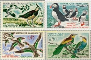 EBS-France-1960-Bird-Migration-amp-Protection-Oiseaux-YT-1273-1276-MNH