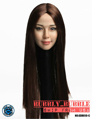 1//6 Female Head Sculpt ASIAN Version B For PHICEN Hot Toys Figure SHIP FROM USA