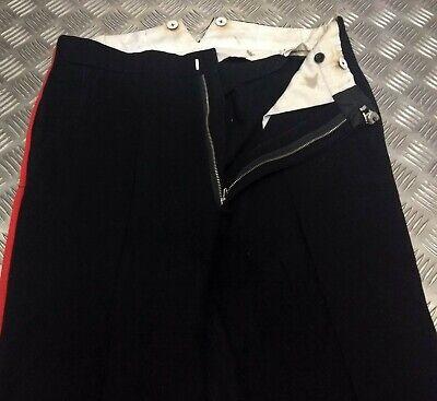 Genuine British Royal Marines Dress Slacks Trousers Single Red Stripes TRHQ04