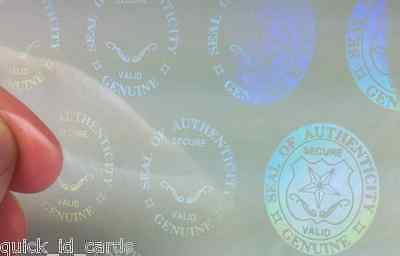 1 Holographic Overlay for Service Dog ID card,  Shield and Key Teslin ID cards
