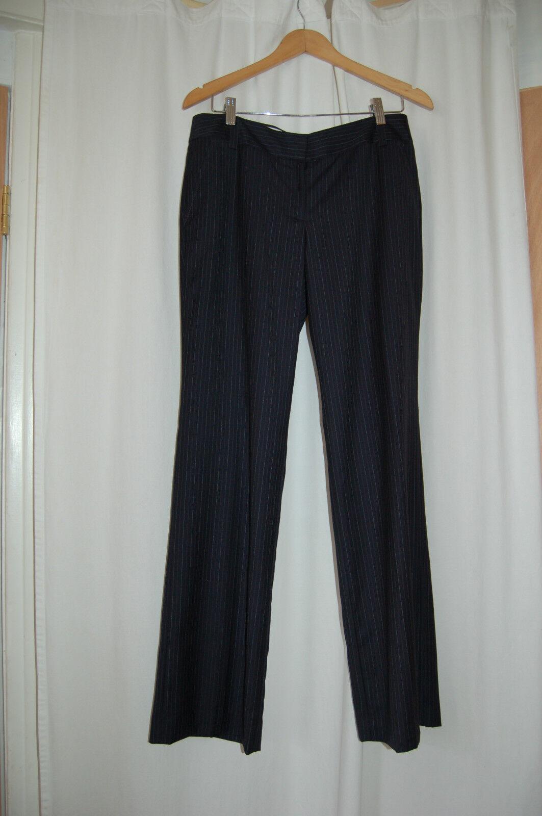 J.  Crew Favorite Fit Wool Navy bluee  Pin Striped Pants Size 8