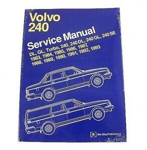 new volvo 240 242 244 245 dl gl se turbo 83 93 bentley repair manual rh ebay com Bentley Auto Repair Bentley Auto Repair