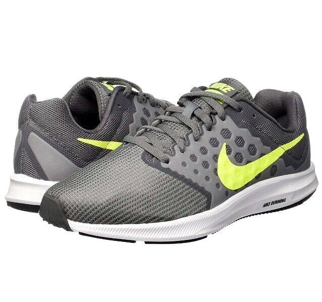 Homme Neuf Nike Downshifter 7 Chaussures De Course Baskets Cool Gris Taille UK 8 EUR 42.5