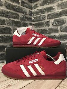 Adidas Originali Jeans Super Formatori Uk 41 Mistero Red Suede