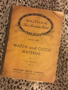Vintage-Waltham-1948-144-page-Watch-Clock-Material-Reference-Book-shop-worn