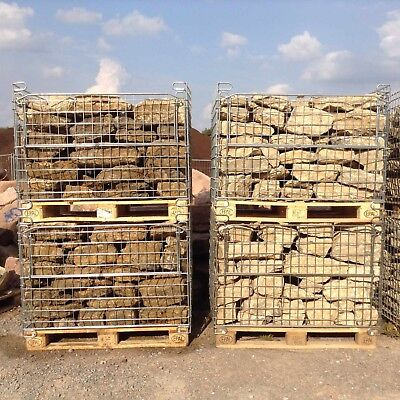 1,2 T Trockenmauersteine € 183,33/t Natursteinmauer Mauersteine Muschelkalk