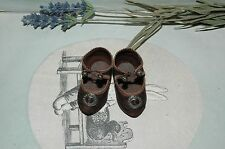 """Beautiful leather shoes for Jumeau Bru Steiner doll 2 - 1/2"""" (64 mm)"""