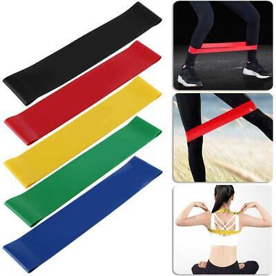 Sport Fitnessbänder Fitnessband Widerstandsband Gummiband Gymnastikband 5 Stk DE