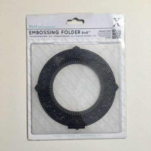 "6"" X 6"" Circle Frame Embossing Folder Texture Cards Craft Xcut Scrapbooking"
