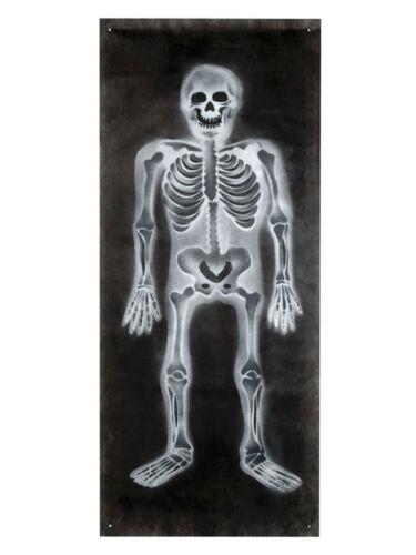Halloween bannière squelette 75x185cm DECO sépulture tombeau