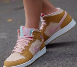 fee9dfa42f1628 Air Jordan 1 Mid WB GS Hare Lola Bunny Wheat Pink Girls(Youth) 9.5 ...