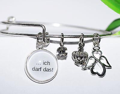 ... ICH DARF DAS +++ Armreif Dream catcher Anhänger charms silber Armband Engel