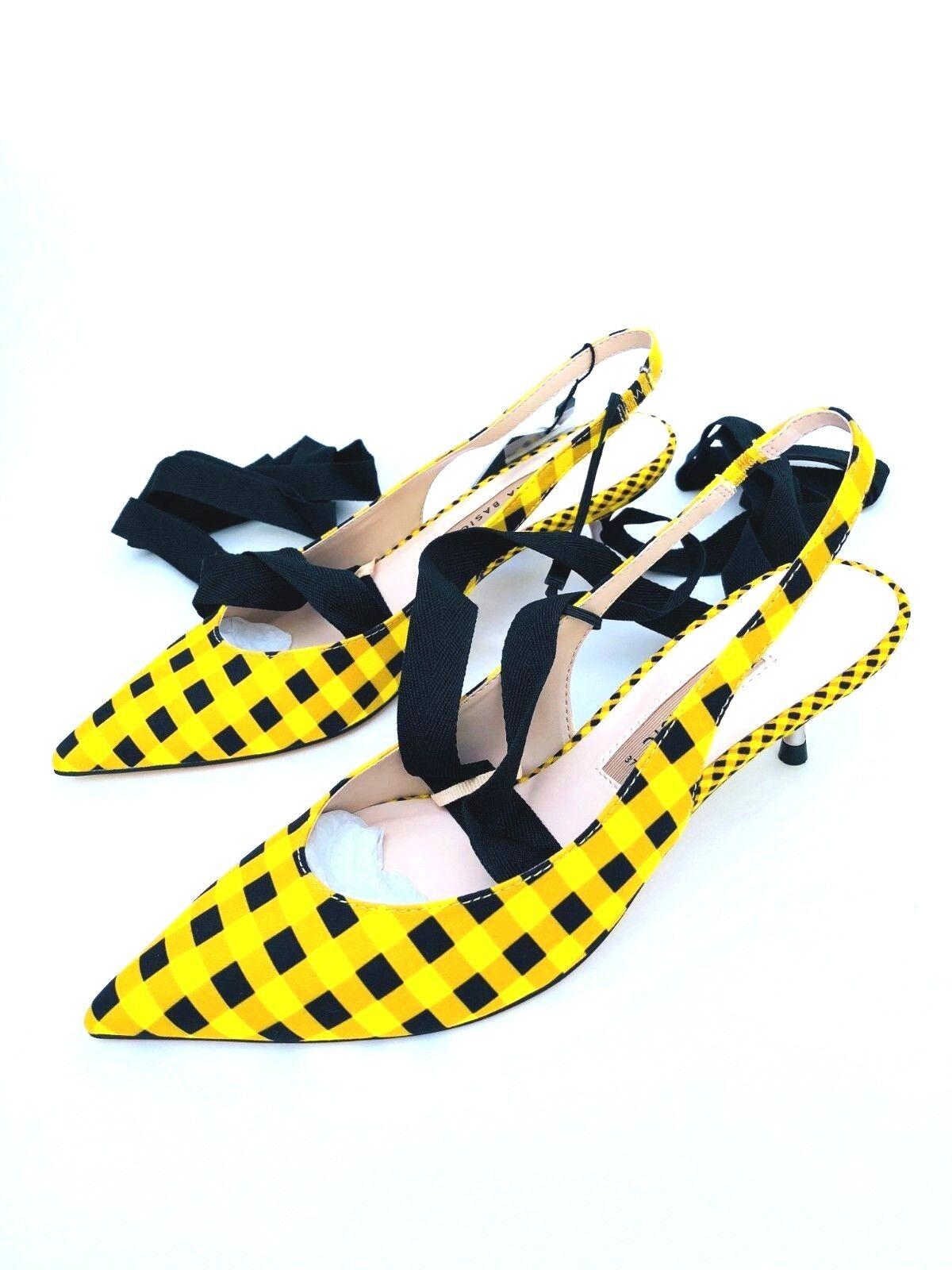 a prezzi accessibili Zara Giallo Percalle ALL. dietro dietro dietro le scarpe con fiocco UK4 UK5 UK6 RIF. 2234 301  miglior prezzo