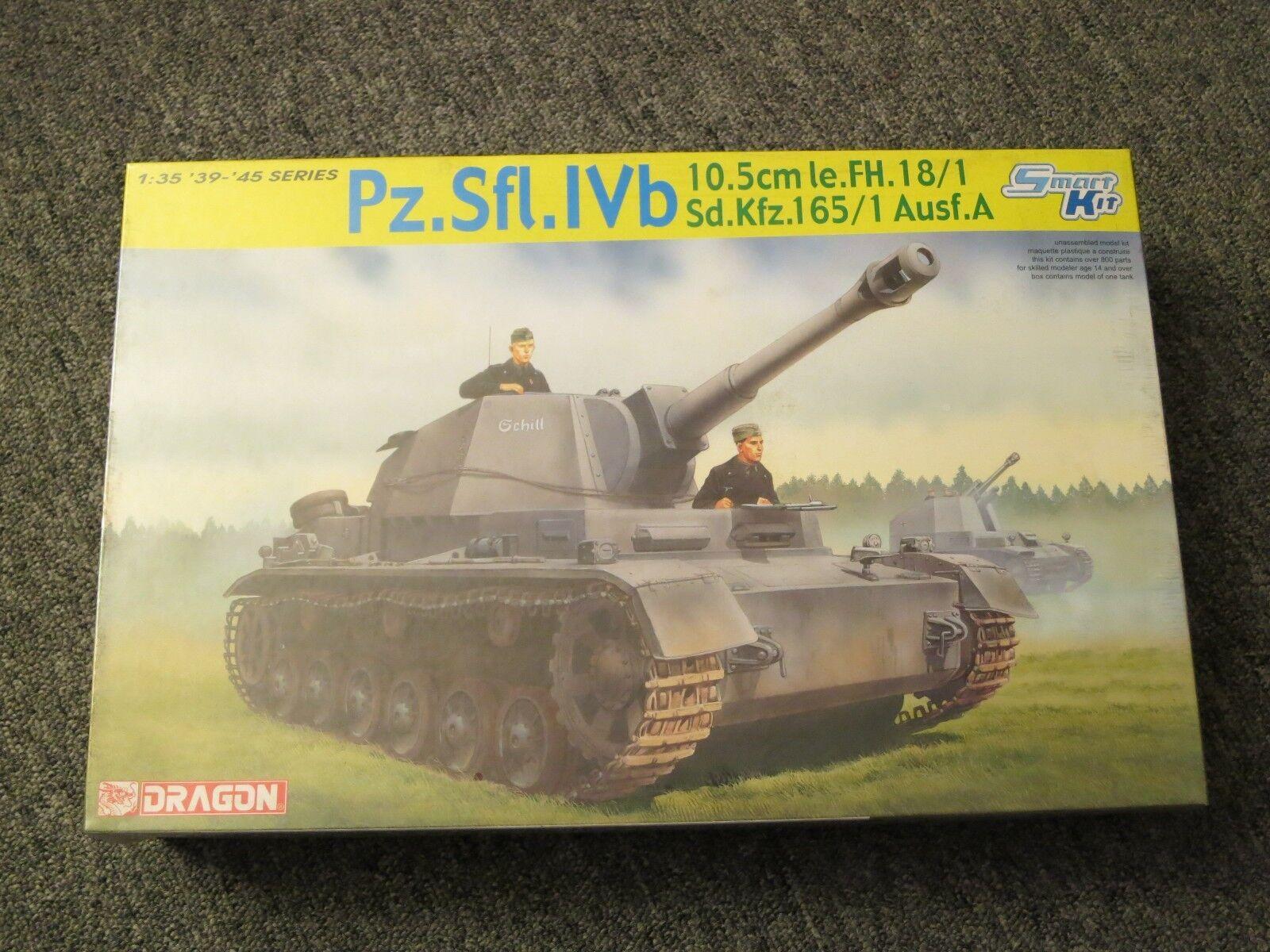 DRAGON 1 35 Pz.Sfl.IVb 10.5cm le.FH.18 1 Sd.Kfz.165 1 Ausf.A  Model Kit