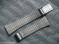 SEIKO 17mm BRUSHED STAINLESS STEEL 2 PIECE WATCH STRAP BRACELET C341