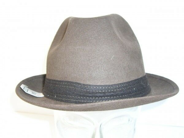 Sombrero Gorro Suppless Marrón con Cinta Oscuro Auténtico Vintage