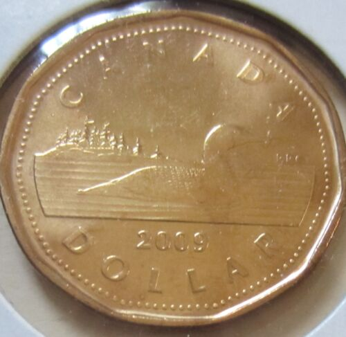 2009 Canada Loonie One Dollar Coin. UNC.