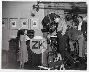 INGRID-BERGMAN-Ratoff-INTERMEZZO-Camera-Tournage-Filming-Crew-Photo-1939
