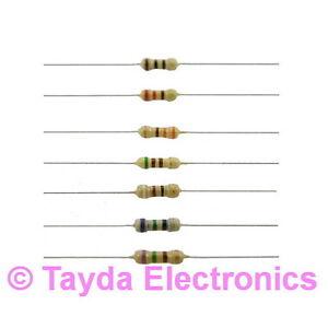 100 x Resistors 2K Ohms OHM 1//4W 5/% Carbon Film