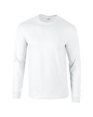 Adult Gildan Long Sleeve Heavyweight Ultra Cotton t-shirt-Mens Tops s m l xl 2xl