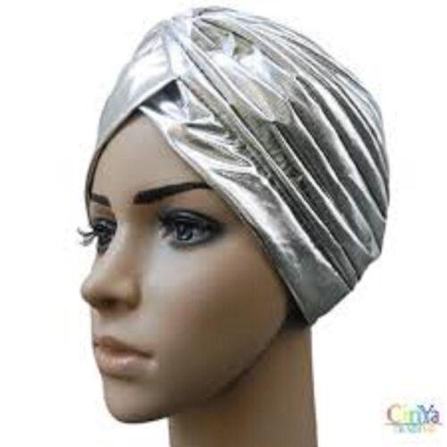 Zac/'s alterego Plisado turbantes Vintage Plata Metálica para la pérdida de cabello o de moda