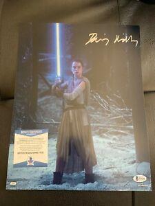 Daisy Ridley Signed Star Wars Jedi Skywalker 11x14 Photo