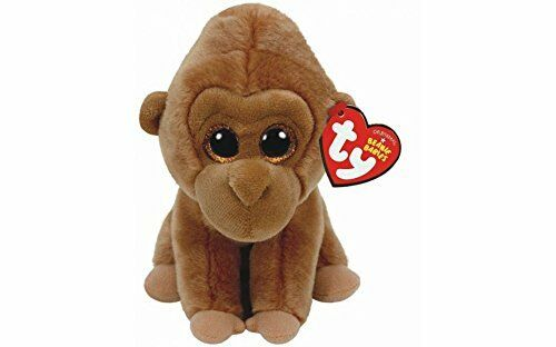 """WITH HEART TAG TY MONROE THE GORILLA BEANIE BABIE 6/"""" SOFT TOY PLUSH 36 MONTHS"""