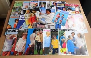 MULTI-LIST-SELECTION-OF-VINTAGE-PATONS-KNITTING-PATTERNS-MENS-WOMANS-BABY
