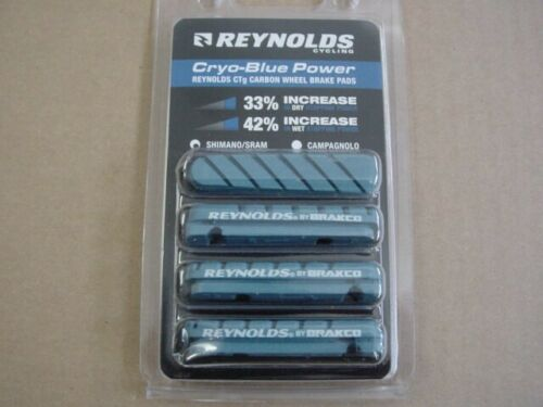 NEW in package Reynolds Cryo Blue CryoBlue Power brake pads carbon rims Shimano