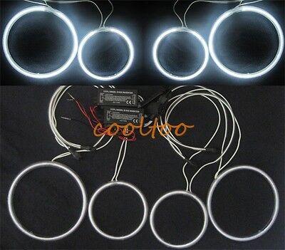 4X CCFL ANGEL EYES HALO RINGS bulbs lamps kit for Volkswagen Golf 5 V MK5- white