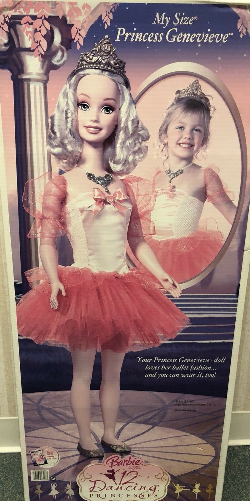 2006 Princesa Genevieve Barbie Mi Tamaño en Die 12 tanzenden Prinzessinen nunca quitado de la caja