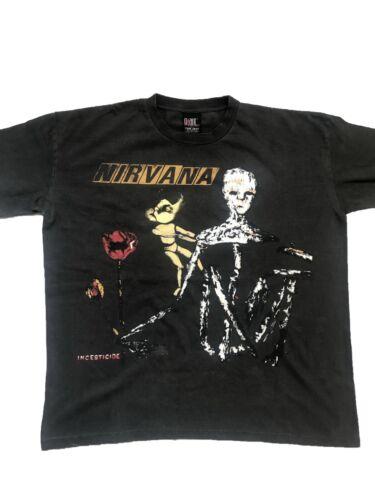 Vintage Nirvana Incesticide Shirt Sz XL  1993 Kurt