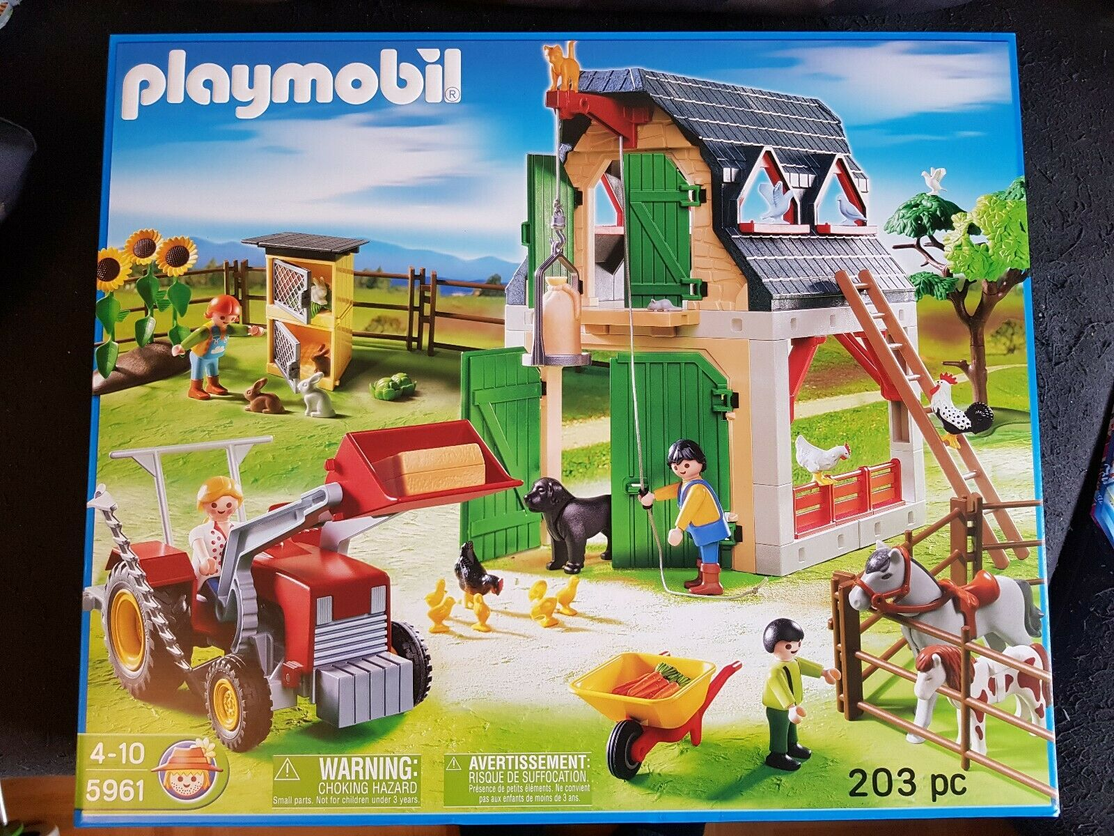 Playmobil Bauernhof 5961 Neu & Ovp Land Traktor TiereScheune Traktor 70136