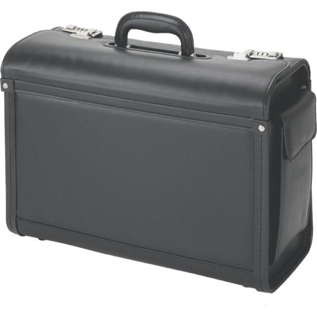 Alassio Pilotenkoffer GENOVA Businesscase Aktenkoffer Lederimitat schwarz 45028