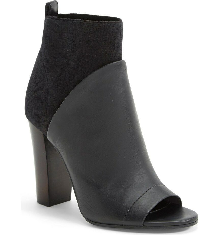 New Vince Aren Aren Aren Open Toe Bootie Leather Suede Size 9 (40) 78de02