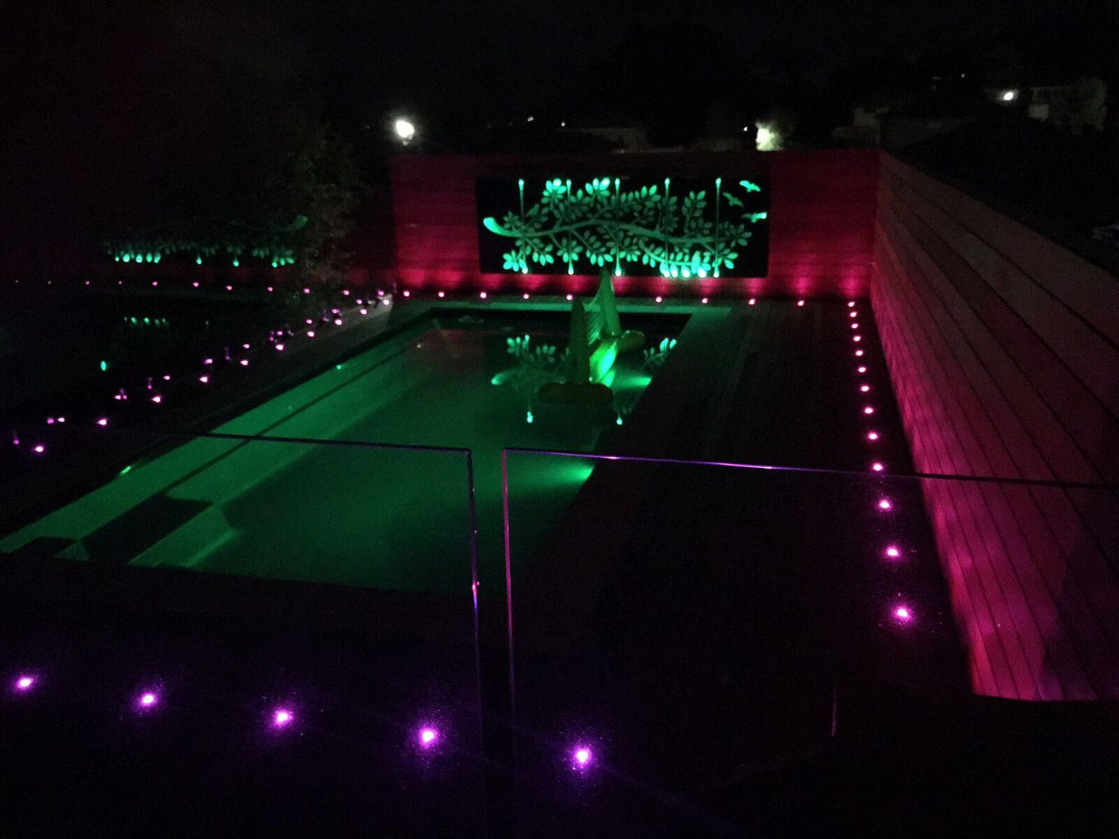 6-30er Set WIFI RGB Boden Einbaustrahler LED Leuchte Außenlampe Minispots IP67