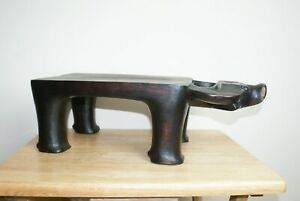 African-Wooden-Carved-Buffalo-Stool-Table-6-034-Tall