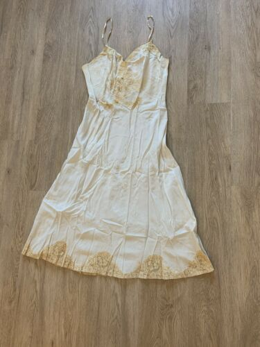 1930's Silk Lace Slip Dress VINTAGE