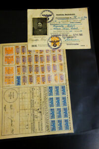 Germany-Stamps-WWII-Third-Reich-Travel-Papers-1940s-Markings