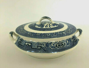 vintage-Mid-Century-Modern-ceramic-covered-vegetable-dish-1950s-1960s-blue